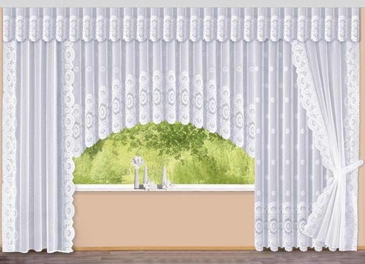 fensterdekoration mit floraldessin verschiedene. Black Bedroom Furniture Sets. Home Design Ideas