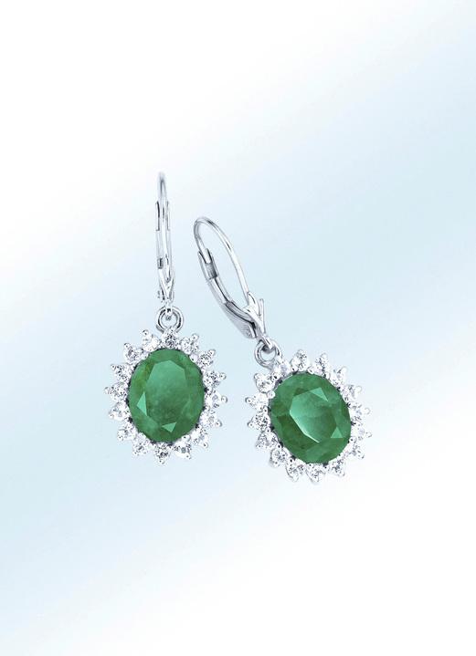 gute Textur Vereinigte Staaten 100% Qualität Ohrringe mit Smaragd und Weißtopas
