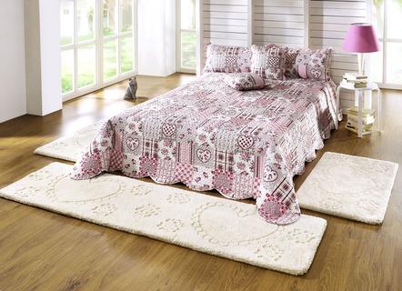 bettumrandung 3 teilig herz dessin teppiche bader. Black Bedroom Furniture Sets. Home Design Ideas