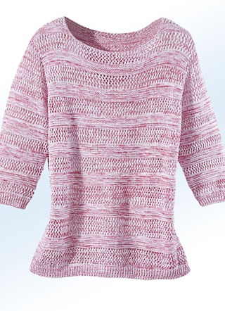 Pullover in 2 Farben mit Mustermix allover