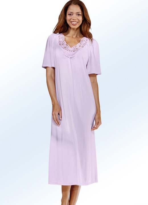 Nachthemd kurzarm mit v ausschnitt nachtw sche bader - Bader festliche kleider ...