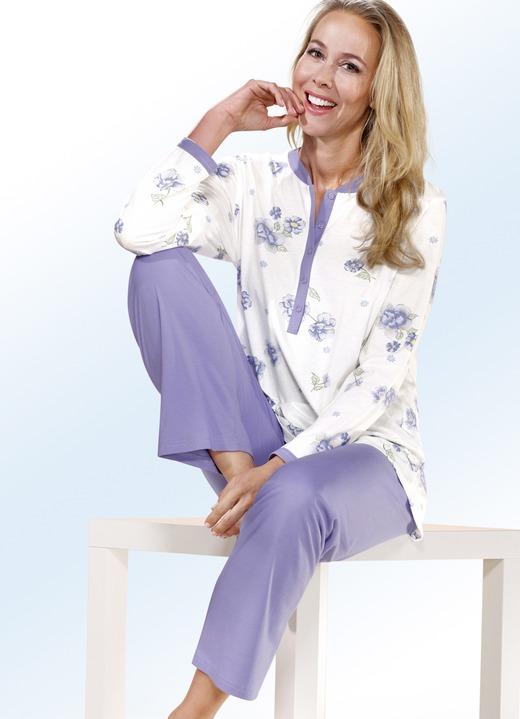 Schlafanzug langarm mit knopfleiste nachtw sche bader - Bader festliche kleider ...