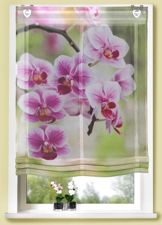 raffrollo orchideenbl ten gardinen bader. Black Bedroom Furniture Sets. Home Design Ideas