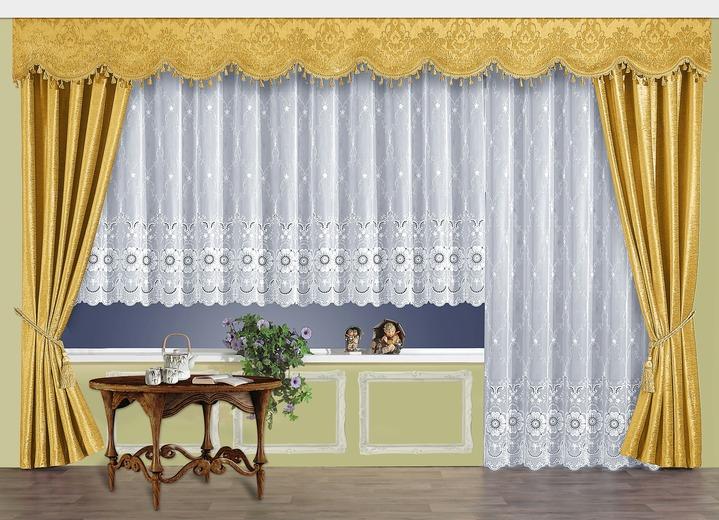 bergardinen garnitur mit universalschienenband gardinen bader. Black Bedroom Furniture Sets. Home Design Ideas
