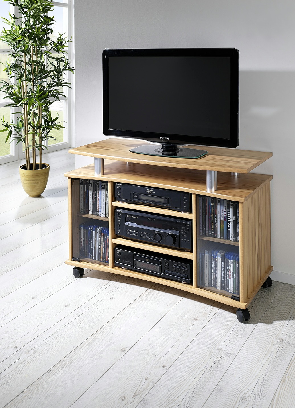 tv rack in verschiedenen farben tv hifi m bel bader. Black Bedroom Furniture Sets. Home Design Ideas