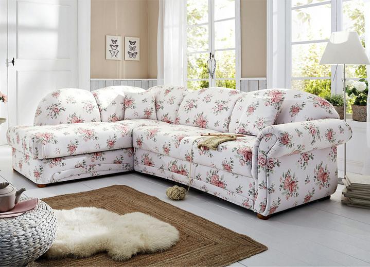 polsterecke in l form mit bettfunktion und bettkasten. Black Bedroom Furniture Sets. Home Design Ideas