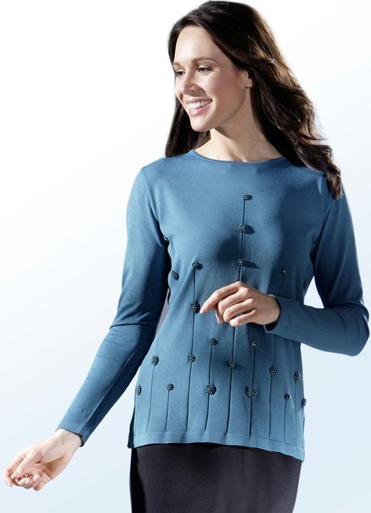 Pullover mit aufwendiger Perlenstickerei - Damen   BADER