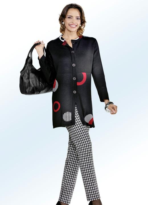 Hosen in Schlupfform - Hose mit schwarz-weißer Hahnentritt-Dessinierung, in  Größe 019 d90b835a7e