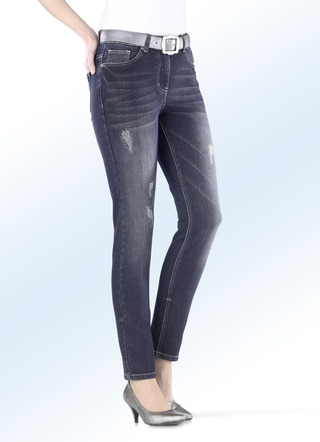 Jeans in 5-Pocket-Form in 3 Farben
