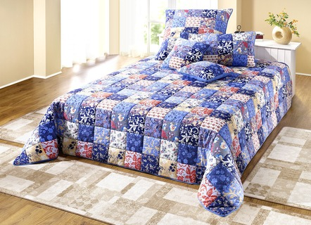 Dreams Tagesdecke in Patchwork-Optik