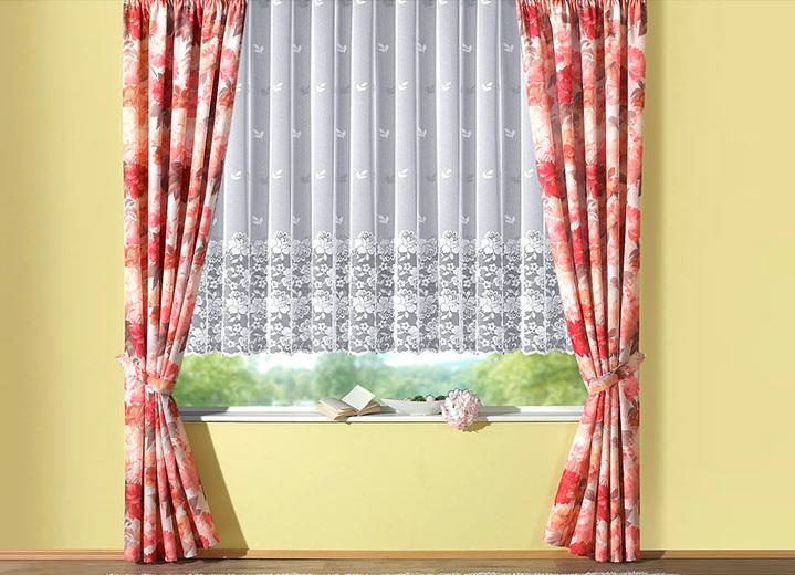 blumenfenster store mit klassisch geradem abschluss gardinen bader. Black Bedroom Furniture Sets. Home Design Ideas