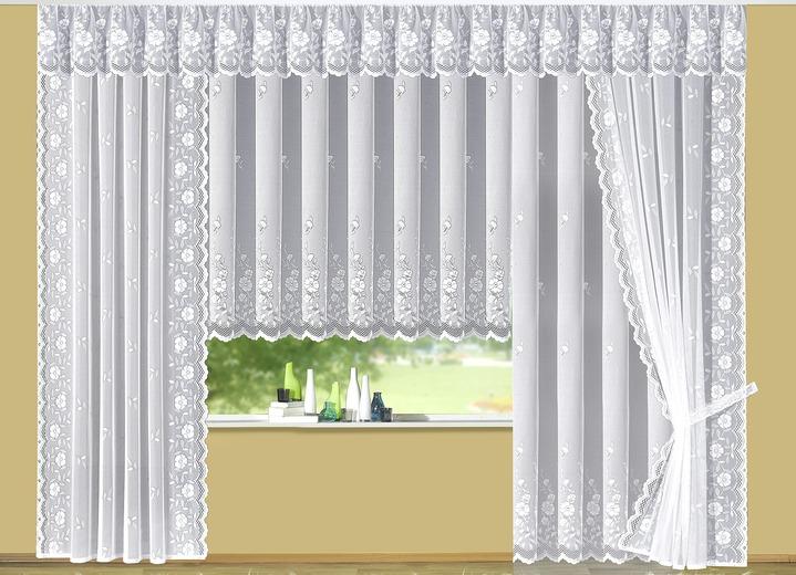 blumenfenster store mit apart floralem dessin gardinen. Black Bedroom Furniture Sets. Home Design Ideas