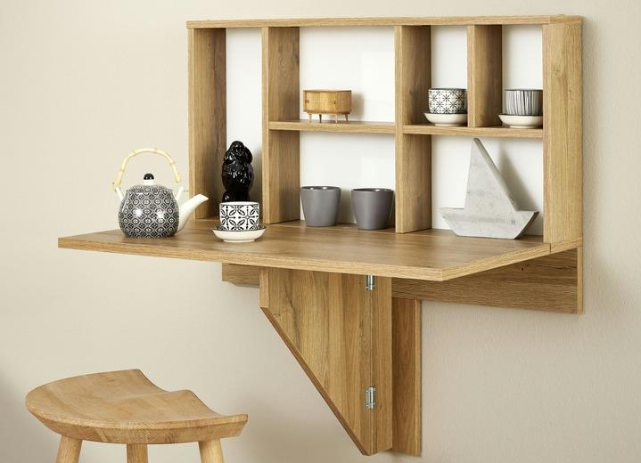 wand klapptisch mit regalhinterbau kleinm bel bader. Black Bedroom Furniture Sets. Home Design Ideas
