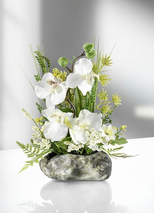 herrliches orchideengesteck f r ihr zuhause kunst textilpflanzen bader. Black Bedroom Furniture Sets. Home Design Ideas