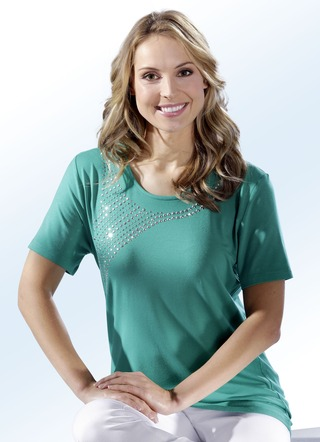 shirt in 3 farben mit rundhalsausschnitt shirts bader. Black Bedroom Furniture Sets. Home Design Ideas