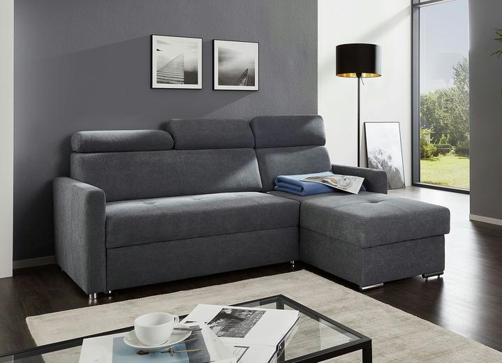 polsterecke mit schlaffunktion in verschiedenen farben polsterm bel bader. Black Bedroom Furniture Sets. Home Design Ideas