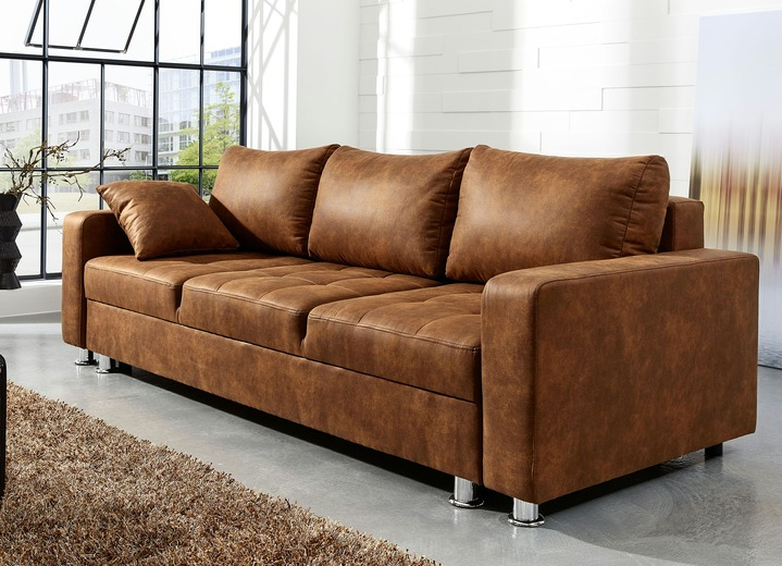 sofa mit bettfunktion in verschiedenen farben polsterm bel bader. Black Bedroom Furniture Sets. Home Design Ideas