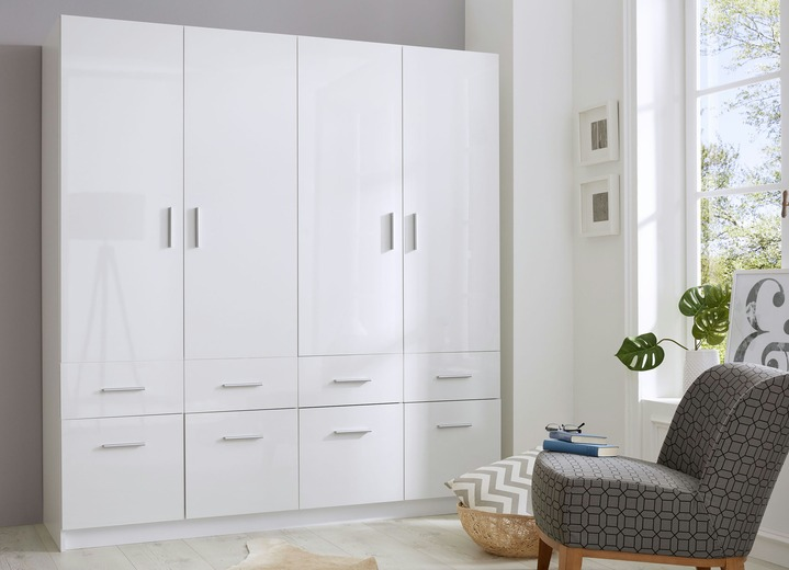 kleiderschrank in wei hochglanz schr nke bader. Black Bedroom Furniture Sets. Home Design Ideas