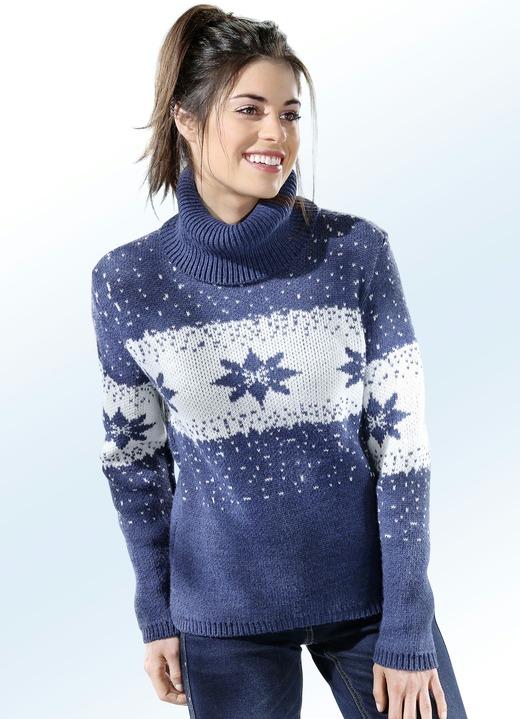 Pullover in 3 Farben mit Norwegermuster