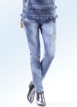 Jeans in 5-Pocket-Form in 2 Farben