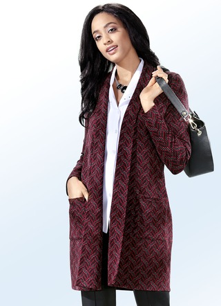 Klaus Modelle Long-Strickjacke in Jacquard-Dessin