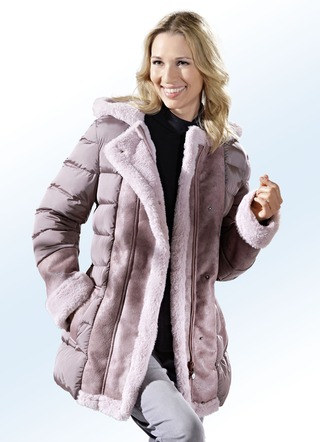 Jacke in angesagtem Materialmix