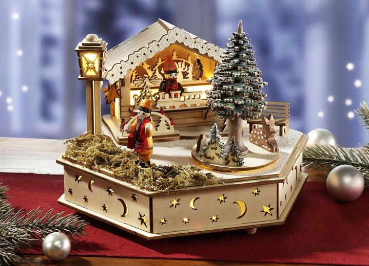spieluhr mit melodie stille nacht weihnachtliche dekorationen bader. Black Bedroom Furniture Sets. Home Design Ideas