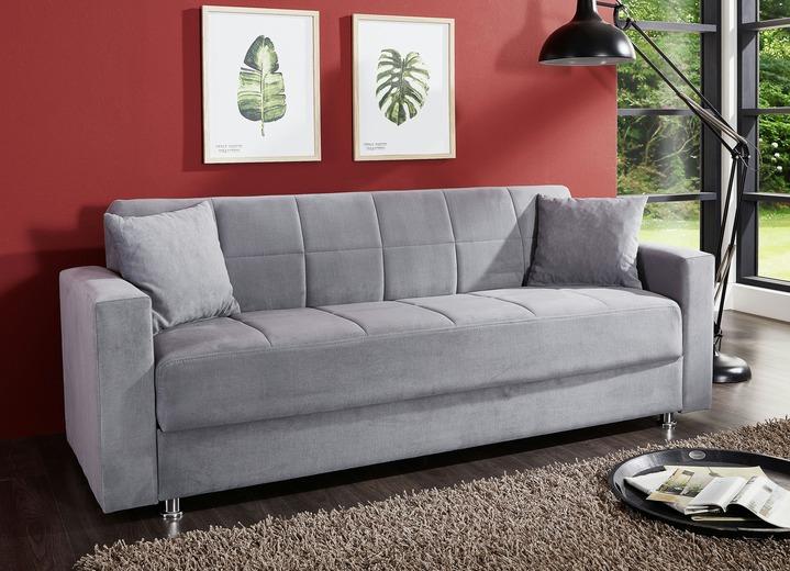 Klick Klack Sofa mit Dekokissen verschiedene Farben