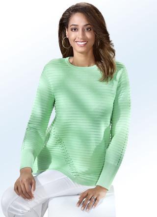 f831e5b65e5b Pullover in 4 Farben mit dekorativen Kordeldurchzügen