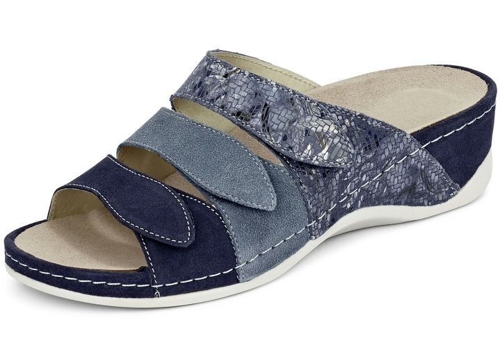 ac6a4965ecc454 Sandaletten   Pantoletten - Pantolette in 3 Farben mit herausnehmbarem  Lederfußbett