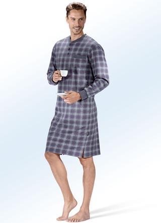 a7f70684bb Nachthemd mit Knopfleiste, Brusttasche sowie langen Bündchenärmeln