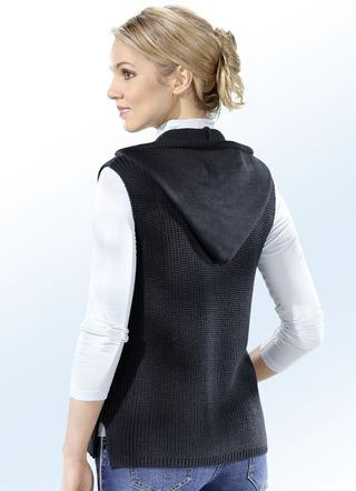 newest cbde3 960b2 Strickweste Damen in schwarz versandkostenfrei online bestellen