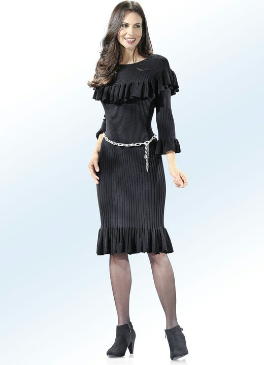 new arrival 4198b 24325 Strick-Kleid mit extravaganten Volants