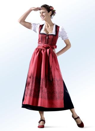 5165a975d4c62a Landhausmode Dirndl in Rot versandkostenfrei online bestellen