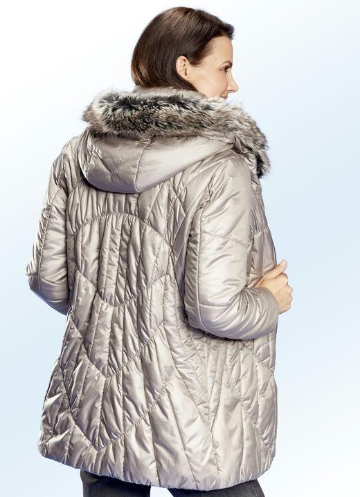 f73920313e82b2 Jacke mit abnehmbarem Kunstpelz-Besatz