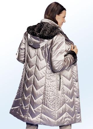 2bb5cb85b09041 Mantel mit Plüsch-Innenausstattung in der Kapuze