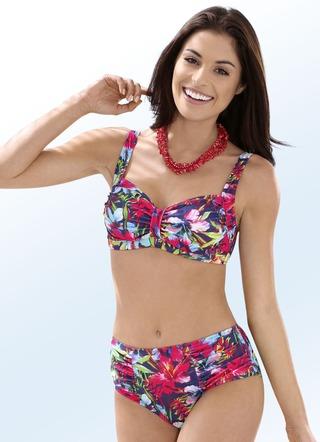 79d55f48db038b Bikini mit herausnehmbaren Softschalen, Zierschlaufe und Druckdessin allover