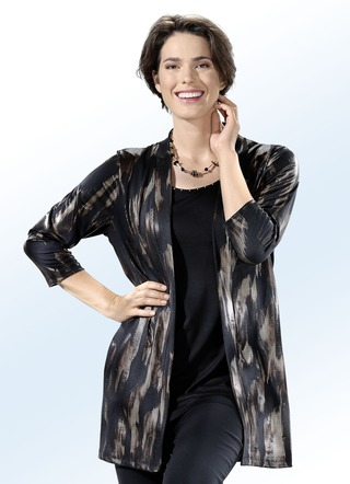 Longshirt in Jacken-Optik