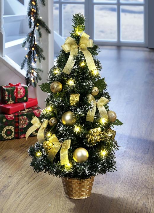 beleuchteter weihnachtsbaum gestecke kr nze bader. Black Bedroom Furniture Sets. Home Design Ideas