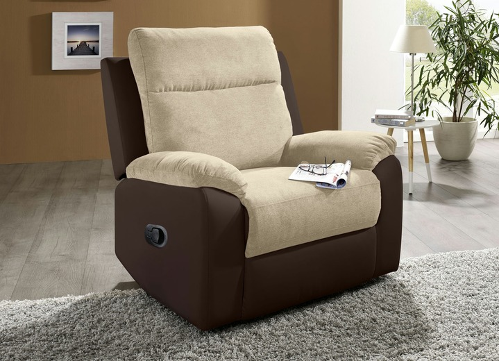 TV-Sessel / Relax-Sessel - Relax-Sessel , in Farbe BRAUN-CREME Ansicht 1