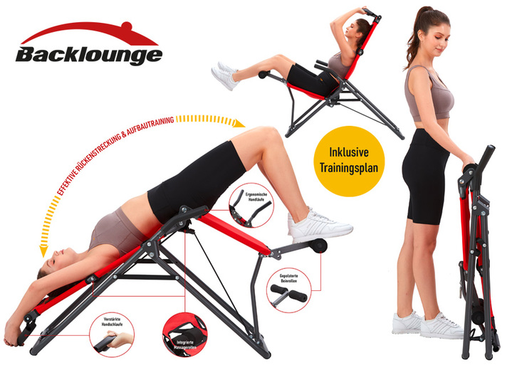 Fitness - Backlounge Inversionstrainer 2-in-1, in Farbe SCHWARZ-ROT