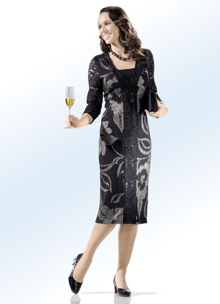 Party-Kleid in 2-in-1-Optik