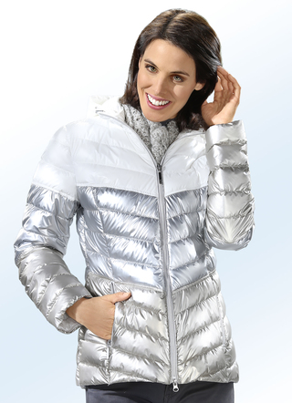 Funktionsjacke in Metallic-Optic