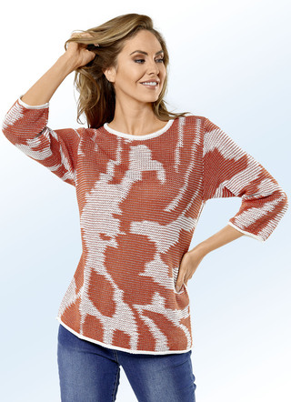 Pullover in 2 Farben mit tollem Allovermuster