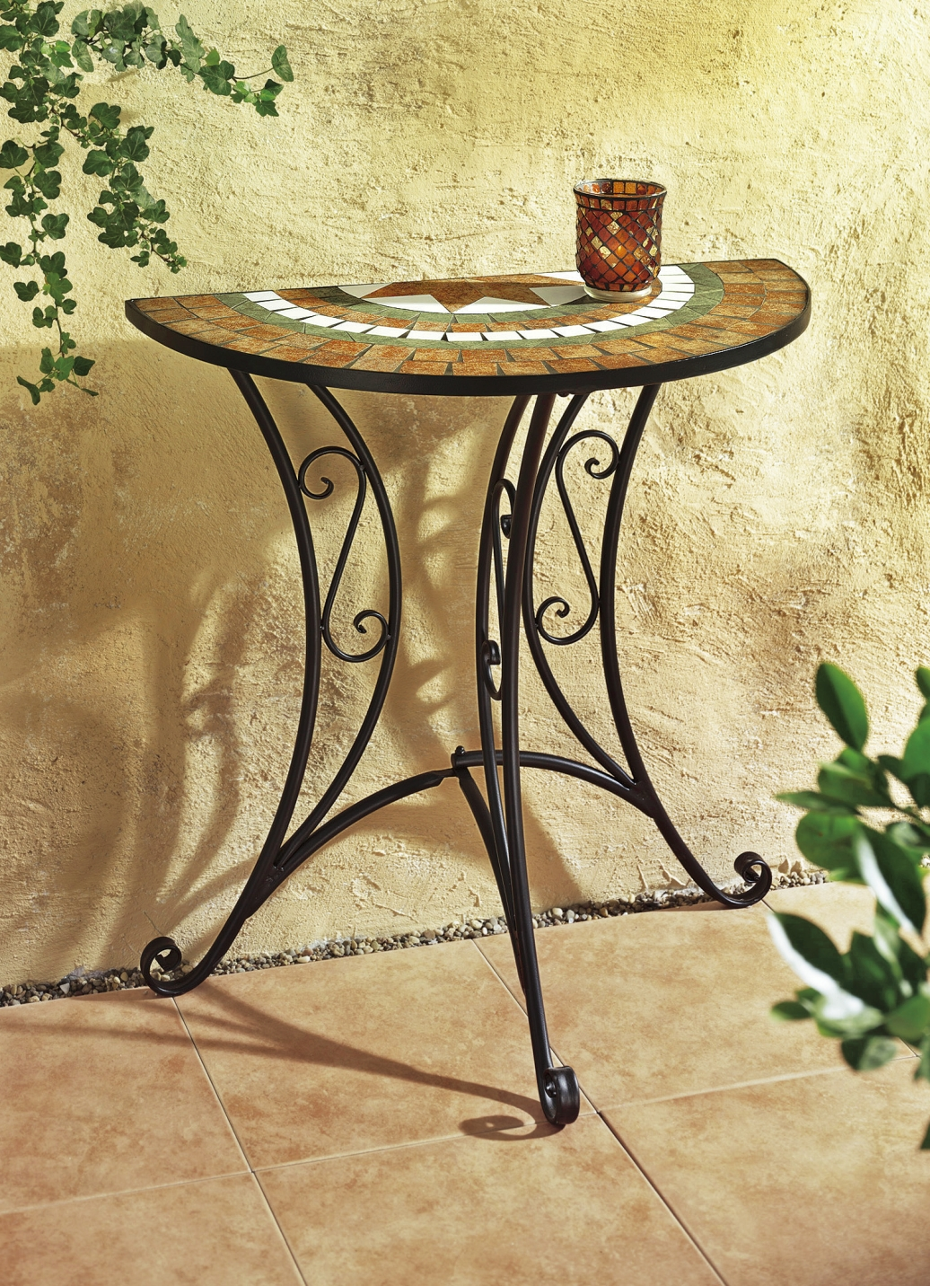 wandtisch mosaik rosamunde produkte f r gartenfreunde bader. Black Bedroom Furniture Sets. Home Design Ideas