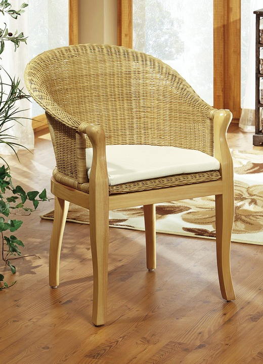 Sessel mit Sitzkissen in verschiedenen Farben - Landhausmöbel | BADER
