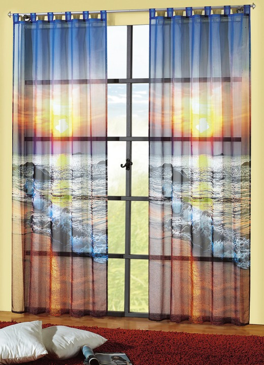Fensterdekoration sonnenuntergang gardinen bader for Gardinen bader