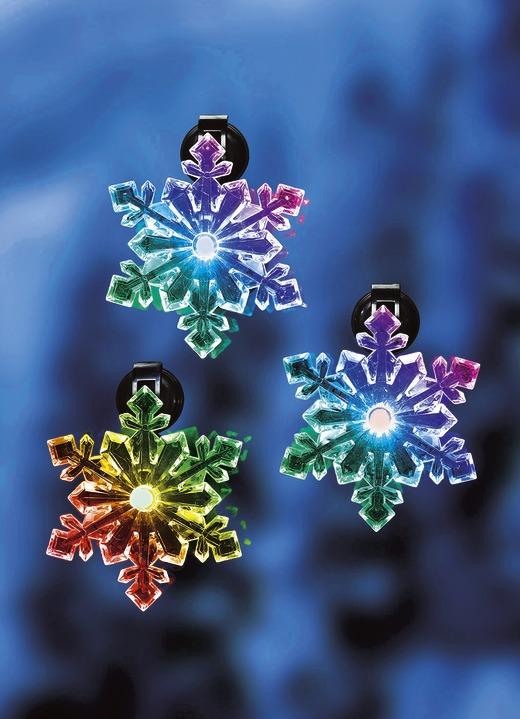 Beleuchtete fenster schneeflocken 3er set weihnachten - Bader weihnachten ...