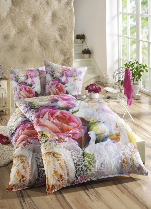 bettw sche garnitur mit rosen motive bettw sche bader. Black Bedroom Furniture Sets. Home Design Ideas