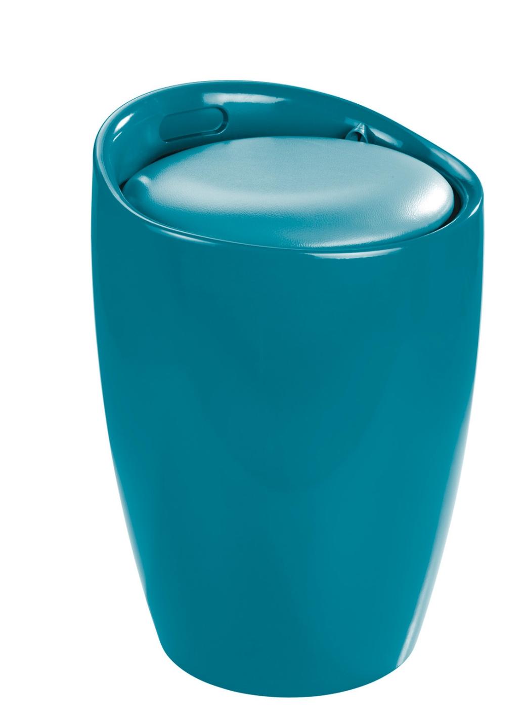 Sitzhocker mit stauraum in 2 farben badm bel bader for Sitzhocker mit stauraum